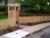 Custom Cedar Fence and Pergola