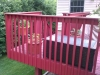 Cedar Deck, painted with a semi-solid stain.