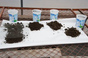 Soil samples are taken to figure out the pH and nutrient levels in your landscape