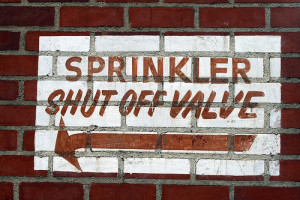 Use your sprinkler shut off valve when you winterize your sprinkler system